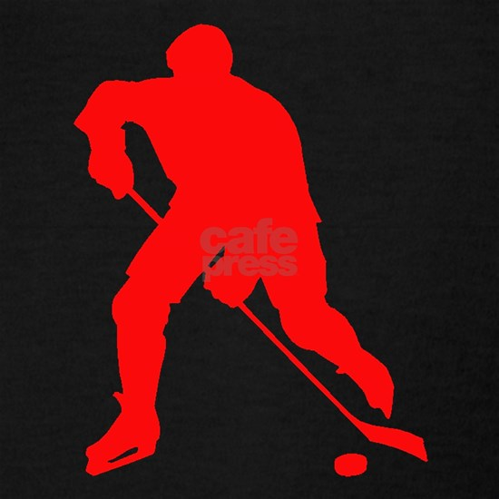 Red Hockey Player Silhouette
