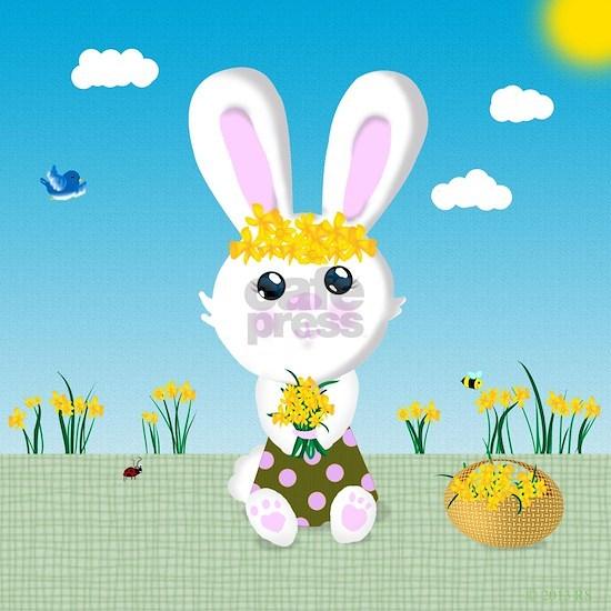 Bunny and daffodils