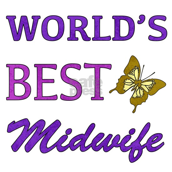 Worlds Best Midwife (Butterfly)