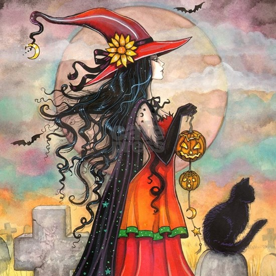 Witch Way Halloween Witch Art