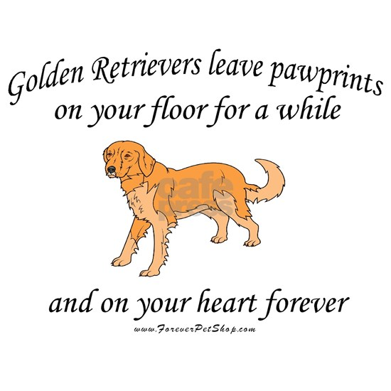 golden retriever pawprint