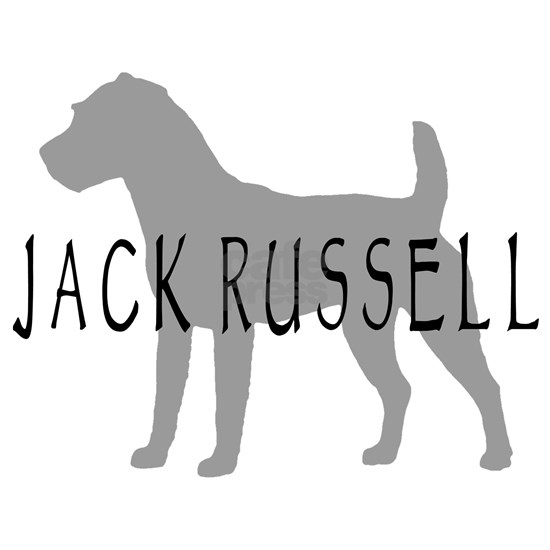 jack russell terrier dog grey orn
