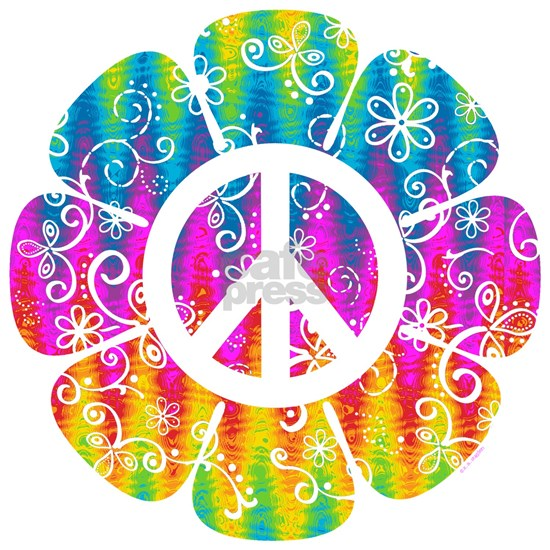 Colorful Peace Flower