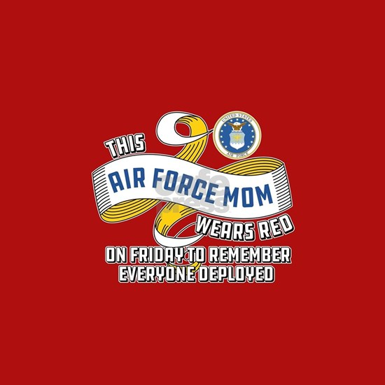 Air Force Mom Wears Red