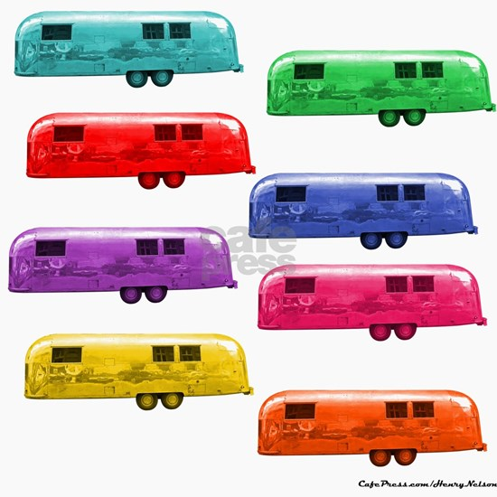 Airstream vintage trailers candy colors