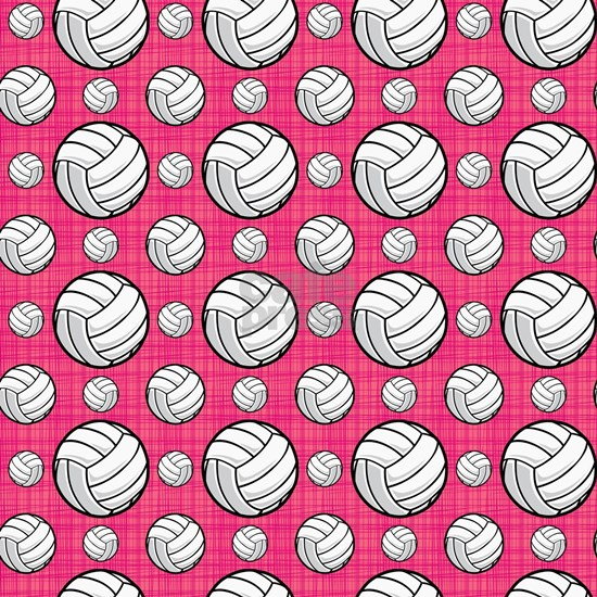 Bright Pink Volleyball Pattern