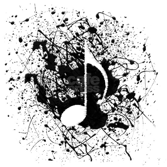 music white note splatter