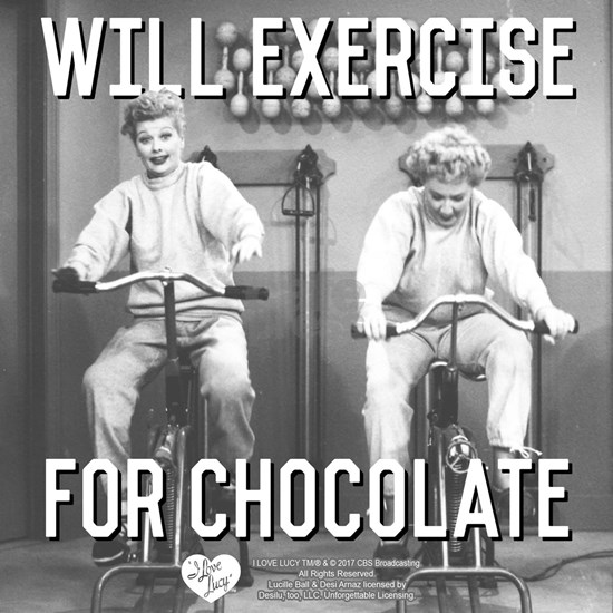 Lucy Ethel Exercise For Chocolate