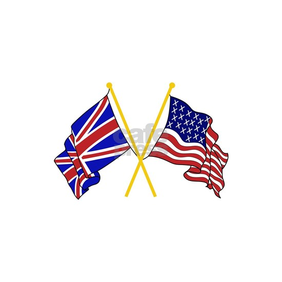 GREAT BRITAIN AND AMERICAN FLAGS