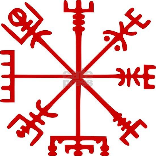 Blood Red Viking Compass : Vegvisir