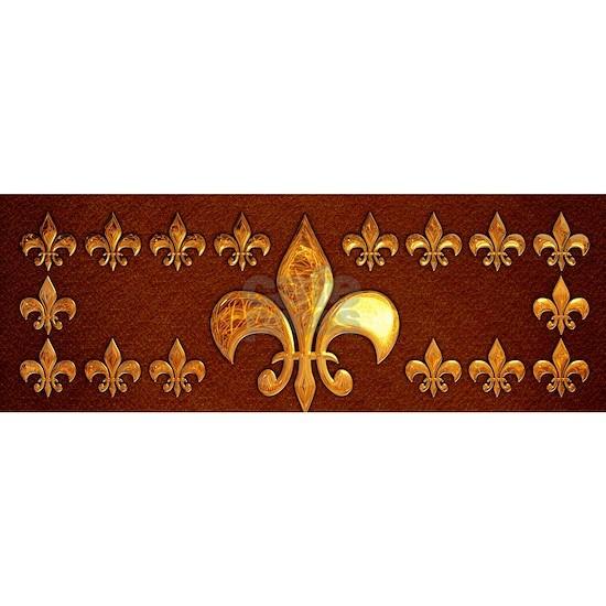 Old Leather with gold Fleur-de-Lys