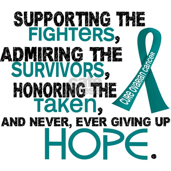 D Ovarian Cancer Supporting Admiring Honoring 3.2