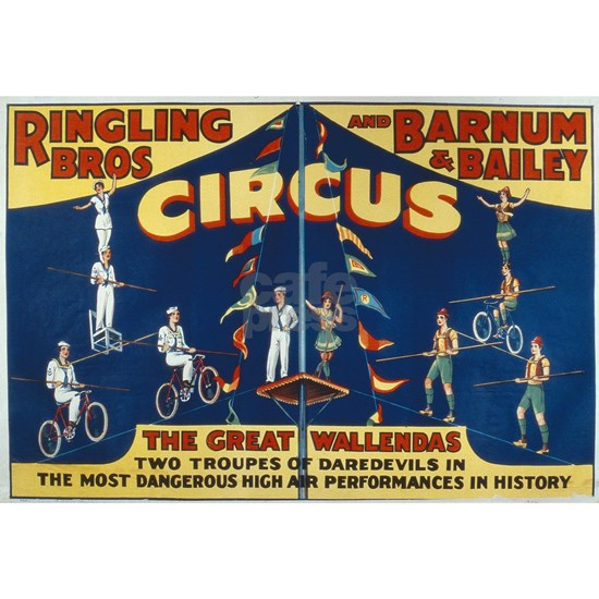 Poster advertising the 'Ringling Bros. and Barnum