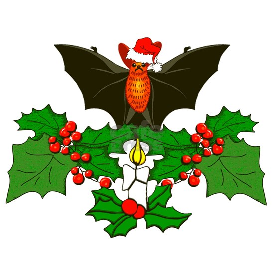 Christmas Holly With Bat