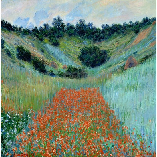Claude Monet - Poppy Field near Giverny Shower Cu