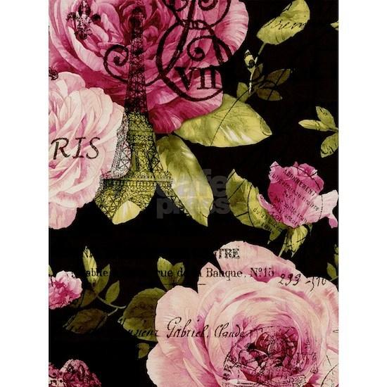 modern abstract rose paris eiffel tower