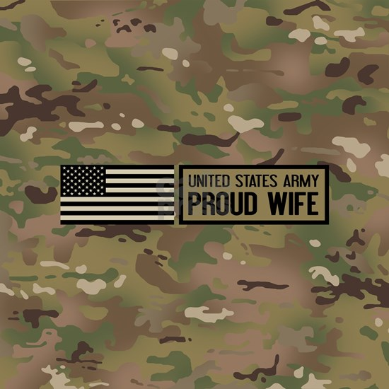 U.S. Army: Proud Wife (Camo)