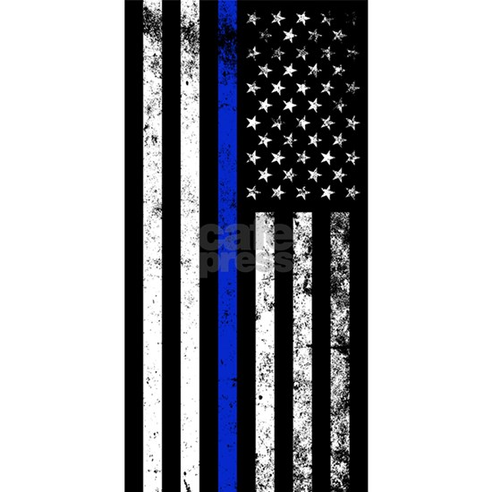 Vertical Distressed Police Flag