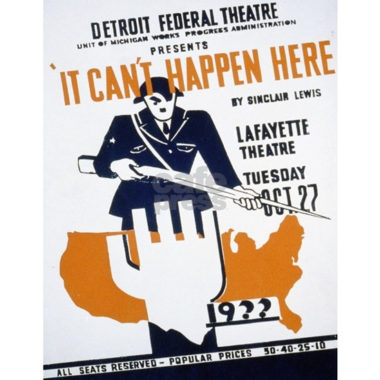 Vintage poster - It Can't Happen Here