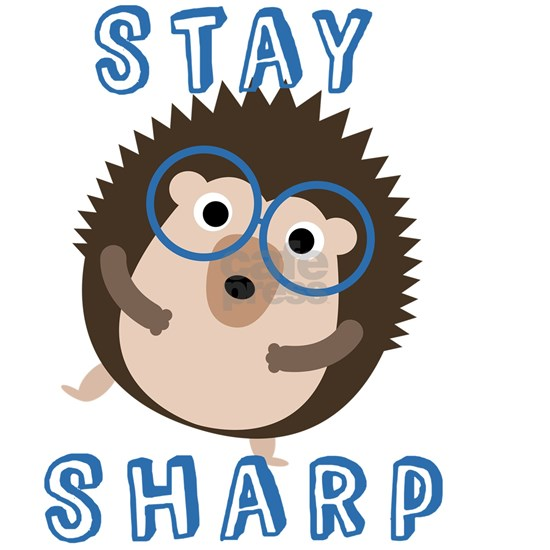 Stay Sharp Hipster Funny Hedgehog