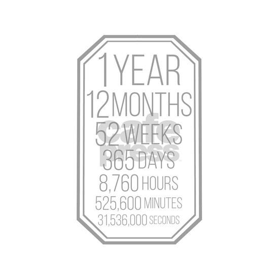 1 Year (Gray Chevron)