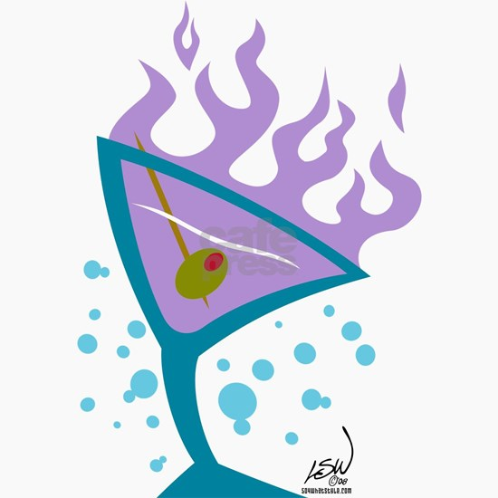Flaming Martini