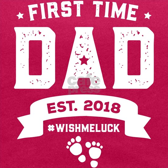 first time dad est 2018 wishmeluck papa t-shirts
