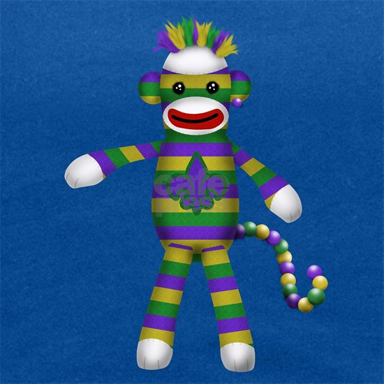 Mardi Gras Sock Monkey