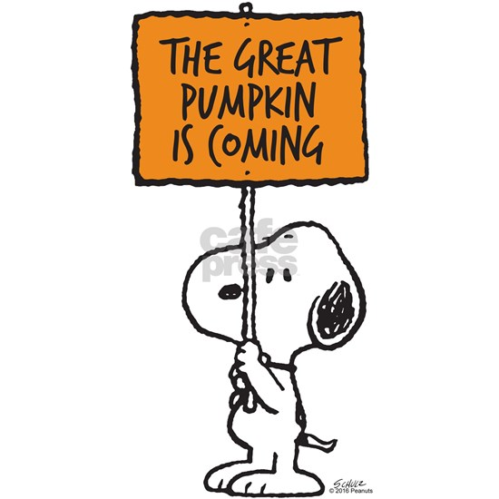 Peanuts The Great Pumpkin Is Coming