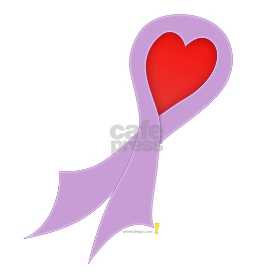 Lavender Ribbon with Heart