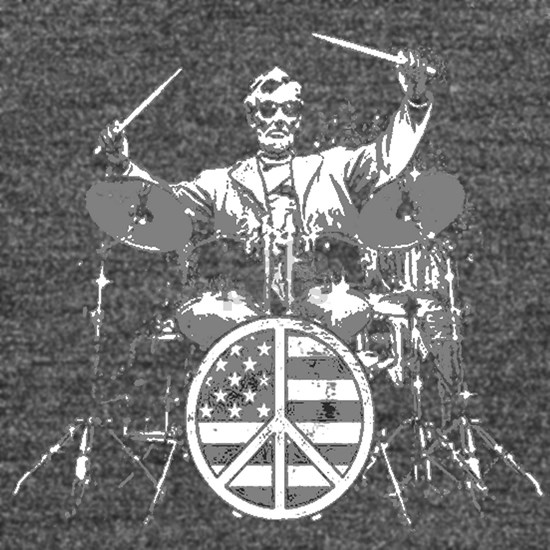 abraham lincoln playing drums