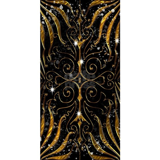Black and Gold Victorian Sparkle