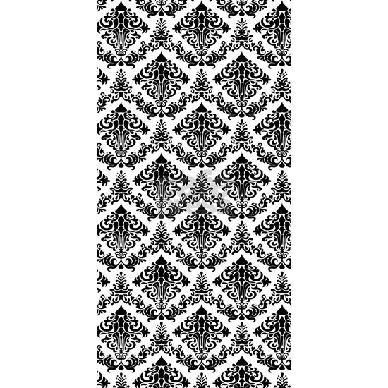 damask black beach towel