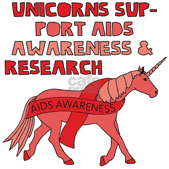 Unicorns Support Aids Awareness & Research