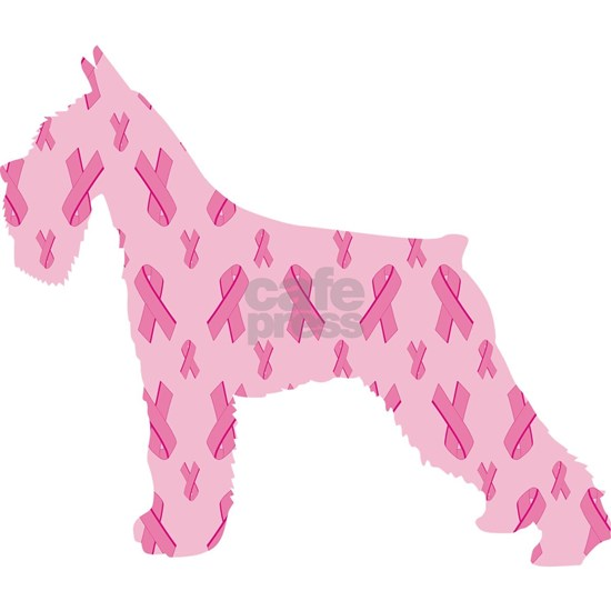 Pink Ribbon Schnauzer for Cancer