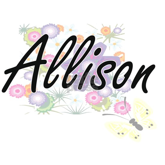 Allison surname artistic design with Flowers