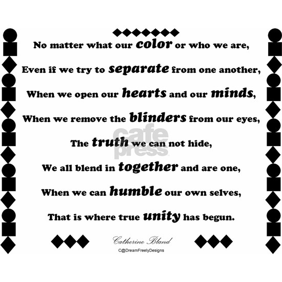 Unity Poem Ornament (Round)