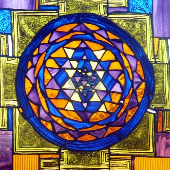 Sri Yantra in Stained Glass