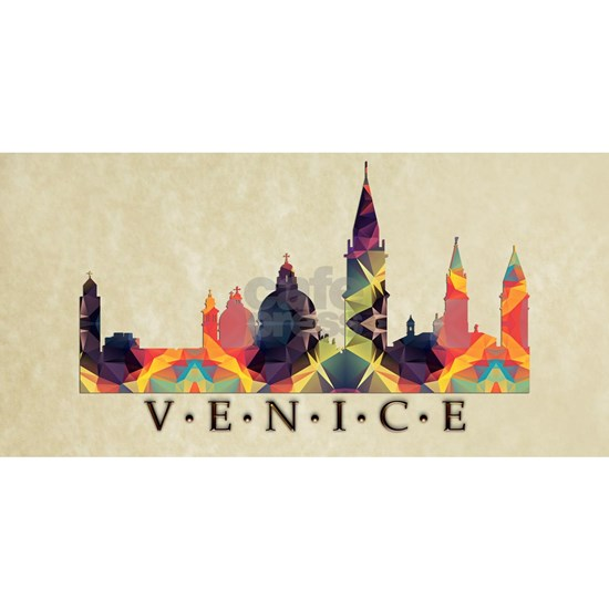 Polygon Mosaic Skyline of Venice Italy