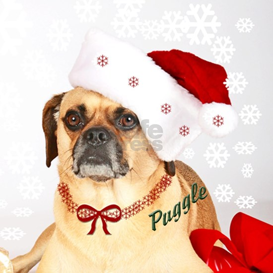 A Puggle Christmas Ornament (Round) by Mr. Puggle - CafePress