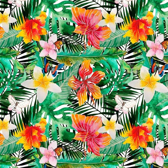 Tropical Aloha Jungle Pattern