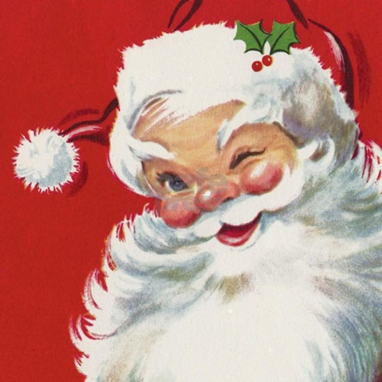Vintage Christmas Jolly Santa Claus