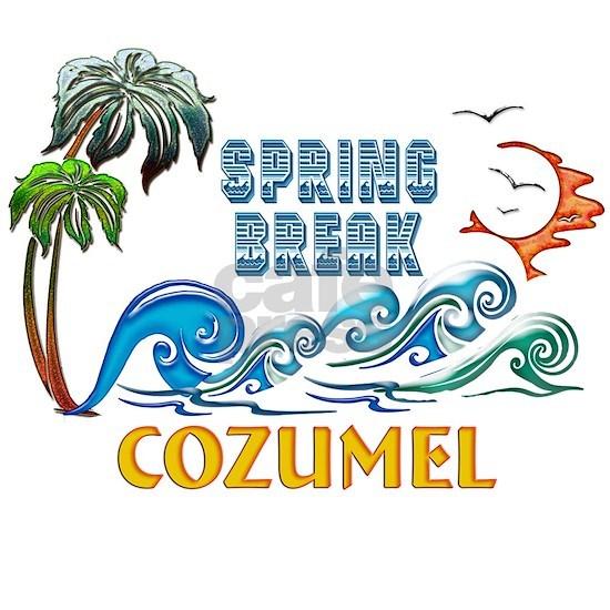 3D Palms Waves Sunset Spring Break COZUMEL