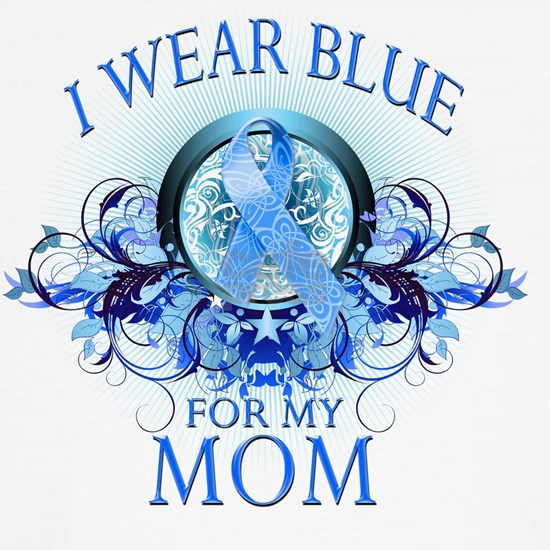 I Wear Blue for my Mom (floral)