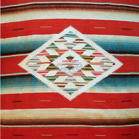 Vintage Red Mexican Serape