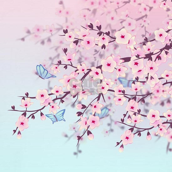Cherry Blossom with Butterfly