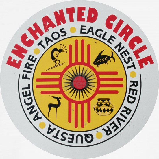 Lg-Enchanted Circle sign round