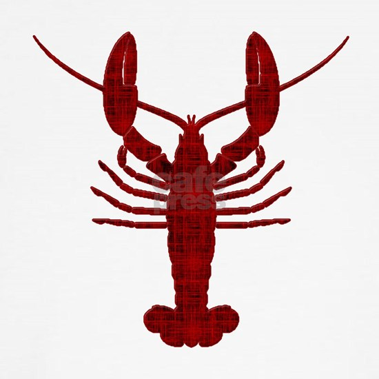 Lobster Red Grunge Silhouette