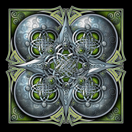 Silver and Green Celtic Tapestry