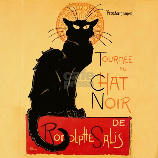 Famous black cat French Poster